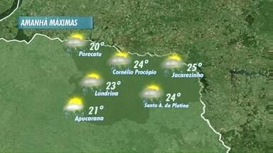 Londrina deve ter bastante chuva no final de semana - Sol e tempo limpo devem ser exceções nos próximos dias.