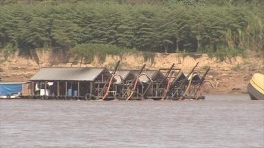Autoridades fazem operação para retirar dragas do Rio Madeira, em Porto Velho - Ação foi feita durante esta quinta-feira, 2.