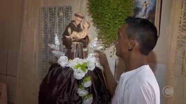 Fiéis celebram a fé em Santo Antônio na cidade de Agricolândia - Fiéis celebram a fé em Santo Antônio em Agricolândia