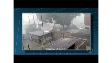 Previsão é de frente fria para o Estado do Rio; forte chuva de granizo atinge Friburgo - Pontos em Petrópolis estão sem energia elétrica por conta da chuva.