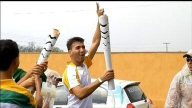 Tocha olímpica percorre as cidades do Rio Grande do Norte - A tocha está em Lages e depois vai para Angicos e Mossoró, onde vai passar a noite.