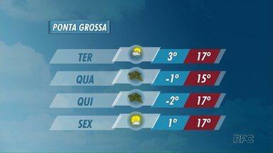 Temperaturas começam a cair nesta terça-feira - Em Ponta Grossa, a mínima prevista é de 3 graus.