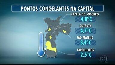 Parelheiros registra temperatura de 2,5ºC durante a madrugada - Outros bairros como São Mateus e Butantã registraram temperaturas abaixo dos 5ºC.