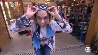 Cissa Guimarães se machuca em acidente doméstico - Quadro caiu da parede e atingiu a cabeça da apresentadora