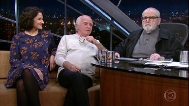 Ignácio de Loyola Brandão e Rita Gullo falam sobre o espetáculo Solidão no fundo da agulha - Pai e filha foram entrevistados por Jô Soares