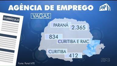 Trabalhadores desempregados que não perdem a esperança de conseguir uma vaga - Em todo Paraná hoje estão disponíveis 2.365 empregos. Em Curitiba e região metropolitana são 834 vagas.