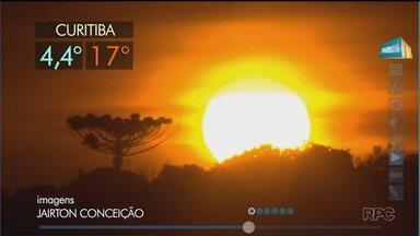 Frio diminui no Paraná - A massa polar começa a se afastar e amanhã as temperaturas sobem um pouco mais.