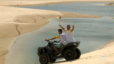 Parque Nacional dos Lençóis Maranhenses recebe Tocha Olímpica - Parque Nacional dos Lençóis Maranhenses recebe Tocha Olímpica.