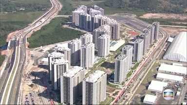Vila dos Atletas é entregue para o Comitê Rio 2016 - Quinze mil atletas vão se hospedar no local durante os jogos. São 31 prédios com 17 andares.
