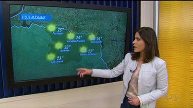 Tempo esquenta um pouco em Londrina e região - A previsão também é de temperaturas mais altas para amanhã, mas com possibilidade de chuvas isoladas.
