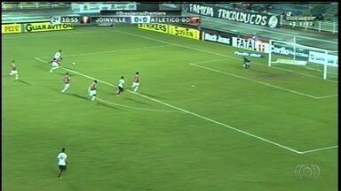 Atlético-GO empata com Joinville, mas segue vice-líder da Série B - Dragão fica no 0 a 0 na partida em Santa Catarina e valoriza ponto