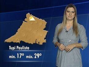 Saiba qual é a previsão do tempo para esta quinta-feira - Veja como ficam as temperaturas.