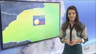 Veja como fica a previsão do tempo nesta quinta-feira (16) na região de Ribeirão - Em Barrinha, SP, a mínima chega aos 13ºC, e em Franca, SP, aos 10ºC.