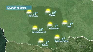 A previsão pra amanhã é de chuva nas cidades da nossa região - As temperaturas ficam mais altas amanhã e a chuva deve vir no período da tarde.