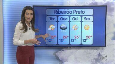 Confira a previsão do tempo para segunda-feira (20) na região de Ribeirão Preto - Clima permanece seco e termômetros devem registrar até 28ºC.