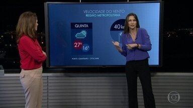 Rio deve ter clima instável nesta quinta-feira - Nesta quinta-feira (23), uma instabilidade deve passar pelo Rio de Janeiro, com tempo nublado e vento e pode chover fraco. A temperatura deve chegar a 27 graus.