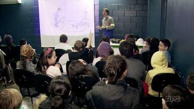 Alunos de escolas municipais aprendem os cuidados com a rede elétrica - Profissionais da Copel estão dando as palestras