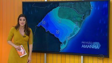 Final de semana tem alerta de temporal para regiões do RS - São esperados 55 mm na Fronteira Oeste neste domingo (26).