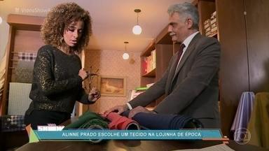 Alinne Prado visita a loja de tecidos de Severo - Repórter do 'Vídeo Show' compra um corte de tecido e mostra como as mulheres produziam seus vestidos nos anos 40, época em que se passa a novela 'Êta Mundo Bom!'