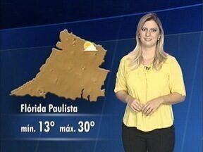 Confira como ficam as temperaturas no Oeste Paulista - Débora Andreatto tem a previsão do tempo para esta terça-feira (5).