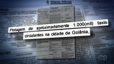 Detran usa R$ 4,5 milhões em campanha educativa em táxis, em Goiás - Órgão estaria contratando empresa sem licitação que seria a única autorizada a veicular propagandas nos táxis.