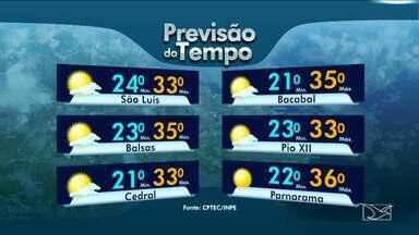 Veja como fica a previsão do tempo para esta terça-feira (5) no Maranhão - Veja como fica a previsão do tempo para esta terça-feira (5) no Maranhão.