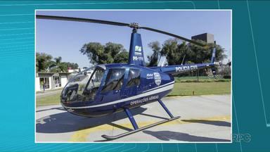 Helicóptero e veículos apreendidos com traficantes vão reforçar a Segurança Pública no PR - O helicóptero vai ser usado justamente para combater o tráfico de drogas. Em Londrina um caminhão vai reforçar a frota do Corpo de Bombeiros.