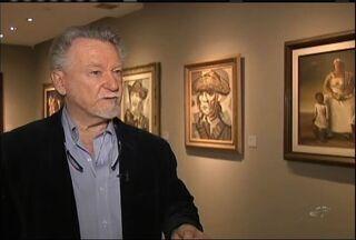 Filho de Cândido Portinari visita exposição Coleção Airton Queiroz - Exposição fica na Universidade de Fortaleza.