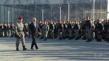 Força Nacional assume a segurança interna das instalações Olímpicas - A Força Nacional assumiu hoje a segurança interna de todas as arenas Olímpicas.