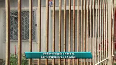 Mulher morre após ser baleada em bairro de Cascavel - Polícia investiga o crime.