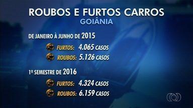 Número de furtos de carros aumenta no último ano, segundo Polícia Civil - Quantidade de roubos de veículos também cresceu na capita.