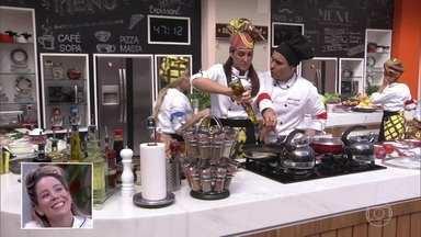 Participantes do Super Chef fazem prova de feijão - Rafa Costa e Silva, Janaina Rueda e Rainer Cadete são os jurados que vão avaliar os pratos da galera