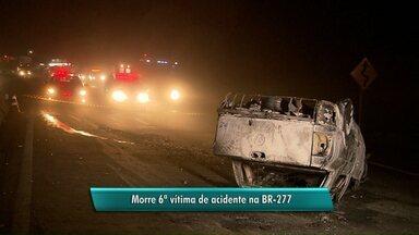 Morre sexta vítima de acidente na BR-277 - O morador de Apucarana tinha 55 anos e estava internado com 90% do corpo queimado.