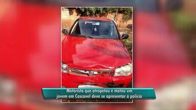 A polícia identificou o motorista que atropelou e matou um pedestre - Após atropelar um pedestre na noite de sexta-feira na Avenida Brasil em Cascavel, o motorista do pálio vermelho fugiu sem prestar socorro.