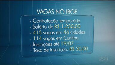 IBGE tem vagas em 46 cidades do Paraná - No Paraná, Instituto pretende contratar 114 pessoas.