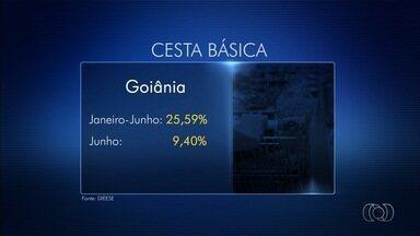 Goiânia é capital em que os preços da cesta básica mais subiram - Alimentos ficaram mais caros nos seis primeiros meses do ano.