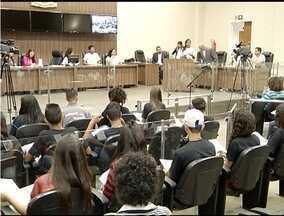 Plenária do Parlamento Jovem de Minas acontece em Montes Claros - Em 2016, adolescentes discutem sobre mobilidade urbana.