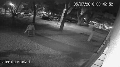 Ladrões furtam câmeras de segurança no DF - Segundo moradores, um único bandido levou nove câmeras de segurança de um prédio.