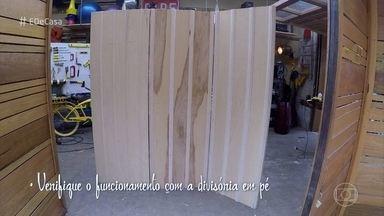 Designer ensina a fazer biombo para dividir ambientes - Fabio Basso mostra a Ana Furtado como montar a divisória