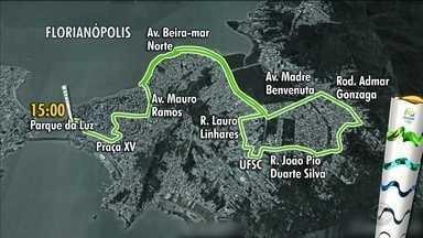 Revezamento da Tocha em Florianópolis tem atrações e bloqueio no trânsito - Revezamento da Tocha em Florianópolis tem atrações e bloqueio no trânsito