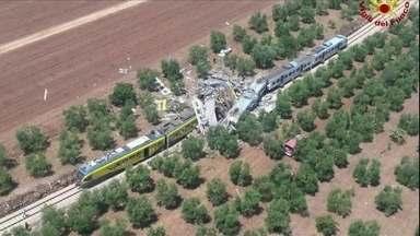 Veja no JH: dois trens batem no sul da Itália e há pelo menos 20 mortos - Vendas do varejo caem 1% em maio. A crise também chegou ao mercado de combustíveis. CCJ deve votar, ainda nesta terça (12), recurso de Eduardo Cunha contra cassação.