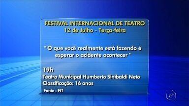 Confira a programação desta terça-feira do FIT de Rio Preto - Sete espetáculos estão previstos para esta terça-feira (12) no Festival Internacional de Teatro (FIT) de São José do Rio Preto (SP). Confira a programação.