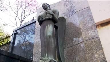 Ladrões furtam estátuas de bronze de mais de 300 quilos do Cemitério da Consolação - Ladrões que ameaçam o patrimônio histórico e cultural do Cemitério da Consolação agora estão levando esculturas do tamanho de gente, e ninguém vê.