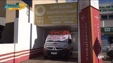 Greve de motoristas e técnicos de enfermagem do Samu continua em Pato Branco - Apenas metade das ambulâncias estão atendendo emergências na cidade.