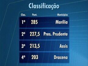 Veja como está a pontuação dos Jogos Regionais - Competições de várias modalidades ocorrem em Osvaldo Cruz.