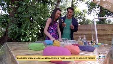Aprenda a fazer massinha de modelar caseira - Zeca Camargo se diverte com a blogueira mirim Manoela Antelo
