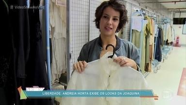 Andreia Horta mostra o guarda-roupa de Joaquina - Atriz interpreta uma mulher à frente de seu tempo na novela 'Liberdade, Liberdade'