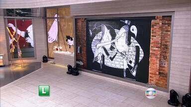 Telão do 'Encontro': Alex Senna exibe seus trabalhos - Artista é daltônico e suas obras são marcadas pelo preto e branco