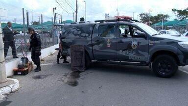 Suposta 'bomba' no aeroporto de Vitória ainda não tem análise final - Suspeita de bomba deixou uma parte do aeroporto interditada por 2 horas.Esquadrão Anti Bomba do BME foi acionado para apoiar Polícia Federal.