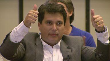 PTB oficializa candidatura de Rodrigo Camargo à Prefeitura de Ribeirão Preto, SP - Candidato apresentou seu plano de governo durante convenção realizada na Câmara Municipal.
